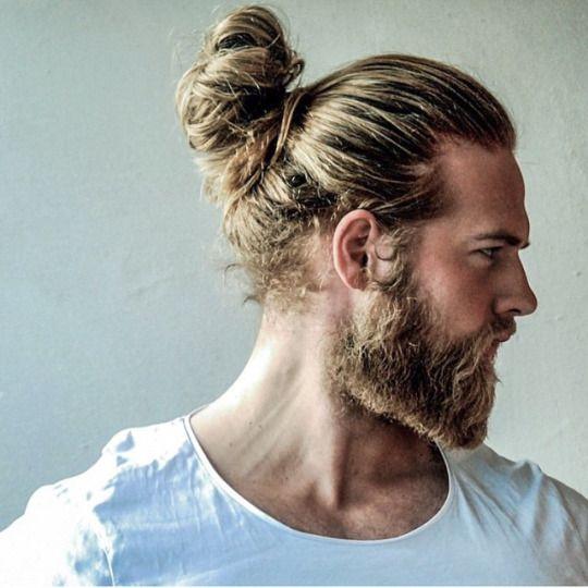 The Barba Manbun And A Beard Like Lasselom Can Get You A Long Hair Styles Men Man Bun Hairstyles Man Bun Beard