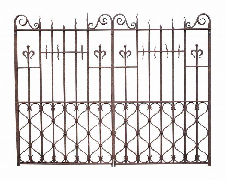 Pair Of 19th Century English Wrought Iron Driveway Gates Uk
