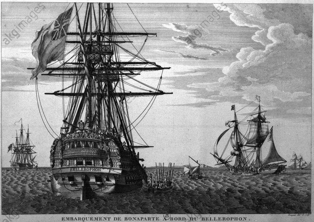 Embarquement De Bonaparte A Bord Du Bellerophon Les Cent Jours Elbe Empereur