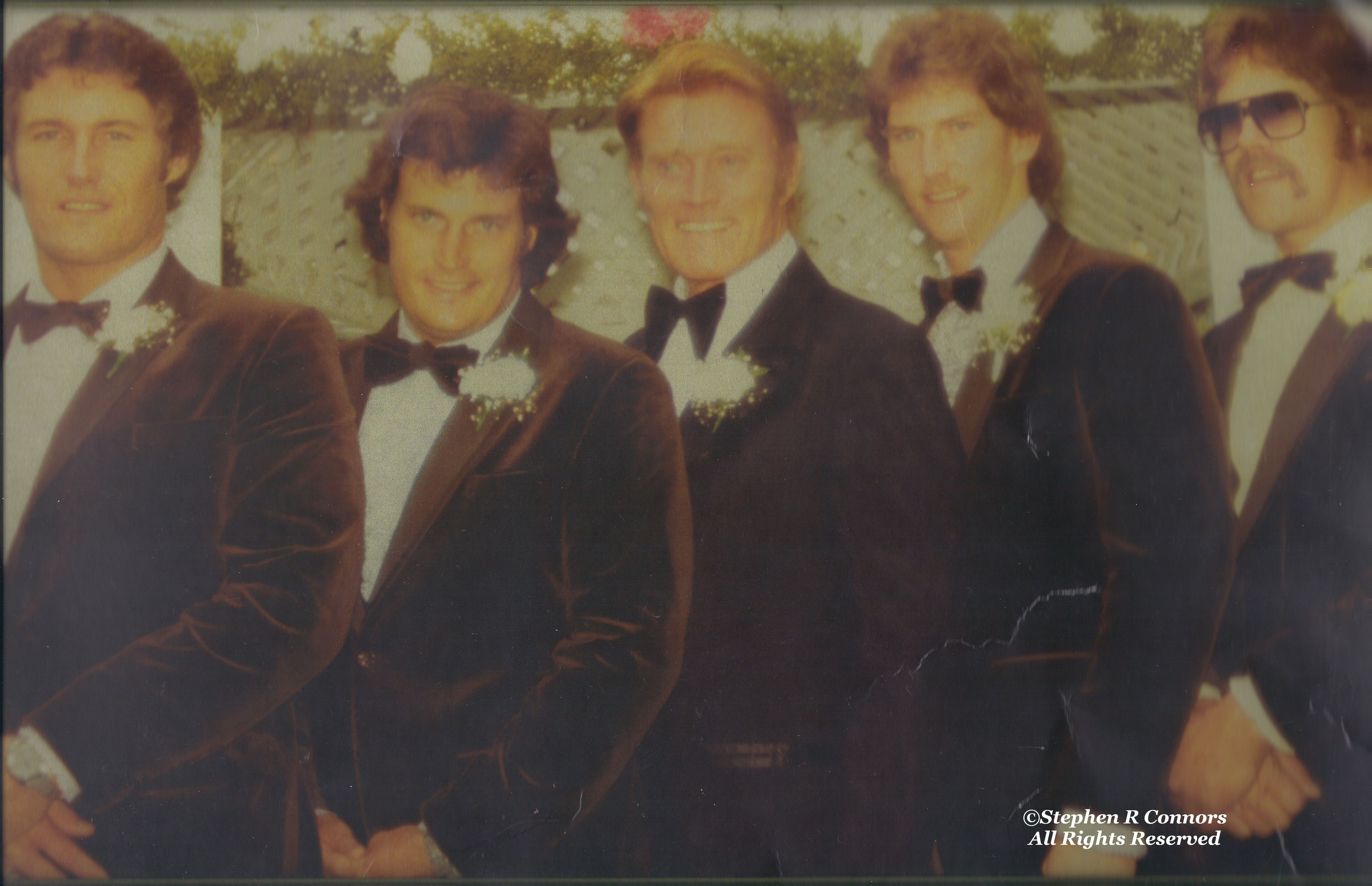 Chuck With All Four Sons At Kevin S Wedding In 1983 From