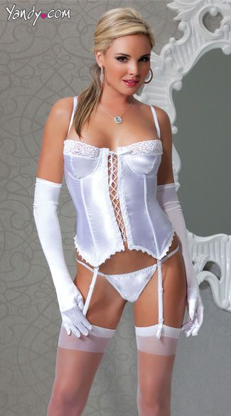 Satin and Lycra Bustier  Satin and Lycra bustier with