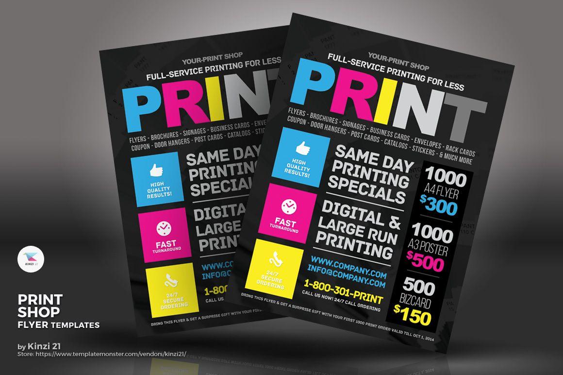Print Shop Flyer Corporate Identity Template Flyer Template Flyer Shop For Less