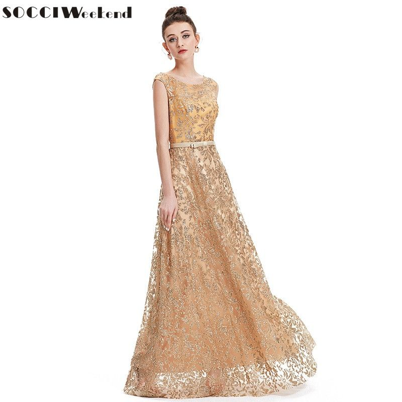 0f5f45f1eeaa Cheap embroidery evening dress, Buy Quality evening dress directly from  China wedding party gowns Suppliers: SOCCI Weekend 2017 Vintage Gold  Embroidery ...