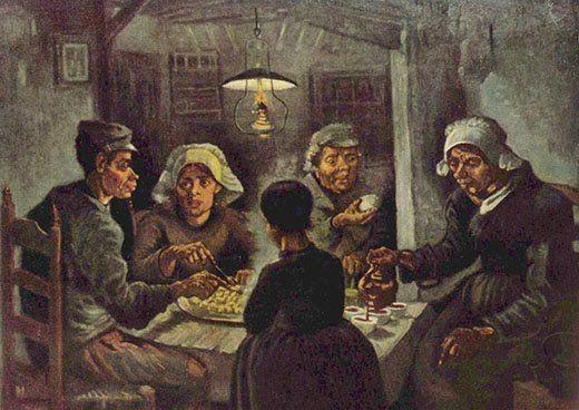 Los comedores de patatas, Los comedores de papa o Los campesinos ...