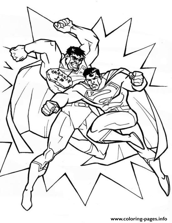 Print superman punching coloring pagea494 coloring pages ...