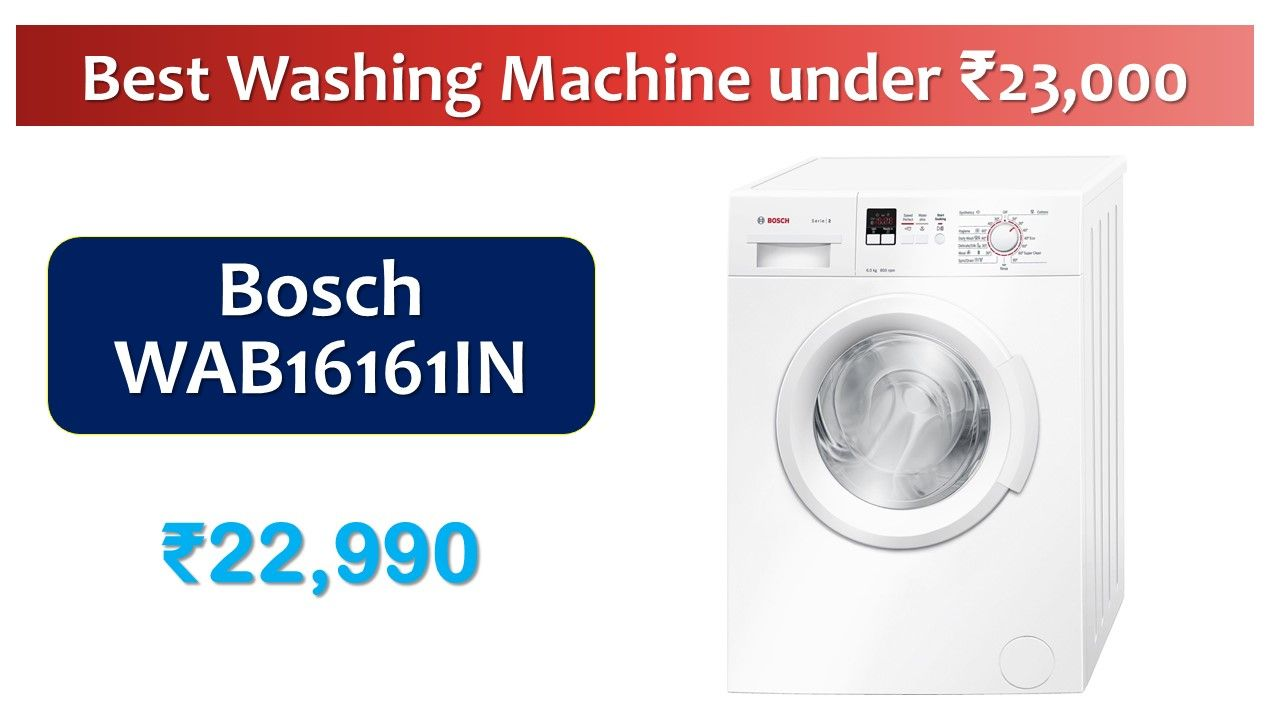 6 Kg 800 Rpm Bosch Wab16161in Washing Machine In 2020 Automatic Washing Machine Fully Automatic Washing Machine Washing Machine