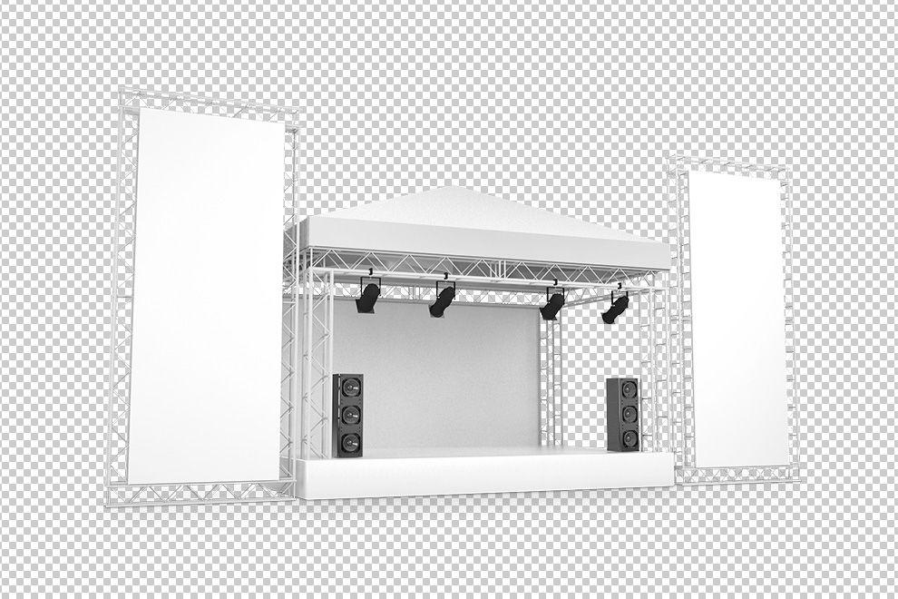 3d Concert Stage With Large Billboards Mockup Generator Concert Stage Design Concert Stage Billboard Mockup