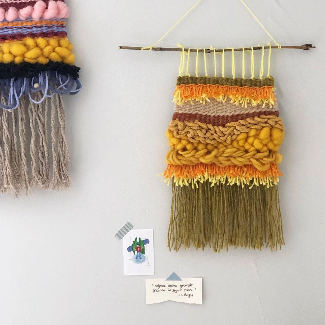 """Alâka Studio on Instagram: """"Turuncunun enerjisi 🧡 . .  #weaverfever #weaveweird #weaversofig #weaversofinstagram #modernweaving #loomweaving #tapestryweaving #weaving…"""""""