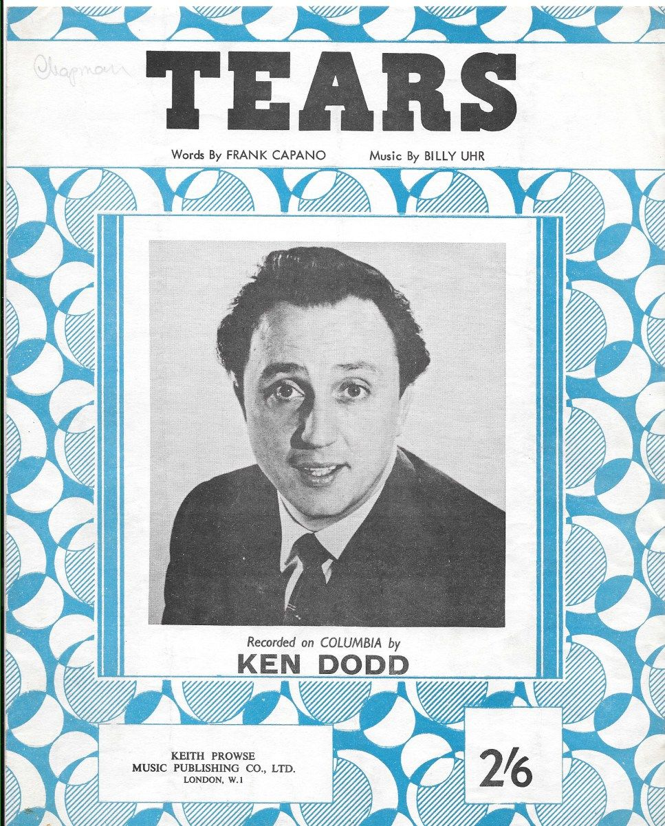 So gird yersel for a sing song with Ken Dodd, and a rousing chorus of Tears. (click to enlarge). Lots of sheet music on sale at the Zeitgeist Emporium.