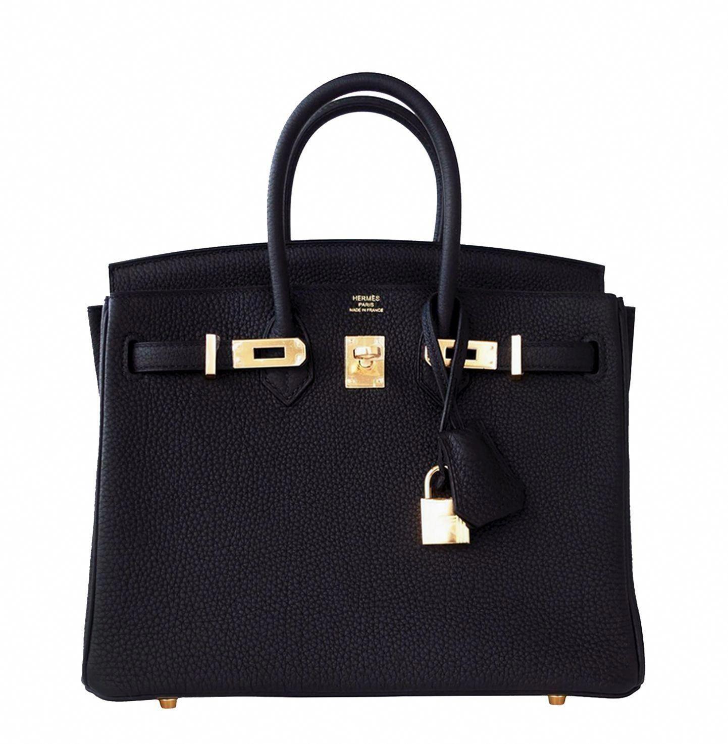 Hermes  Birkin  Bag Black Togo Gold Hardware  Designerhandbags ... 953f353357cb0