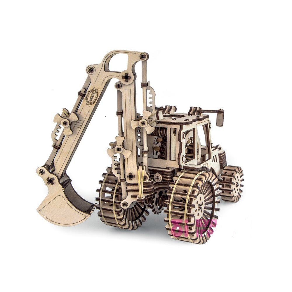 3d wooden tractor puzzle.designer,excavator.safe.interesting