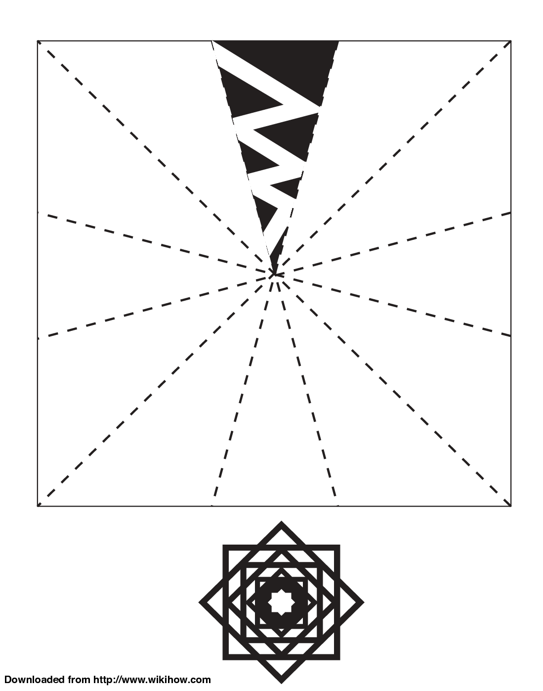 Printable Snowflake Template