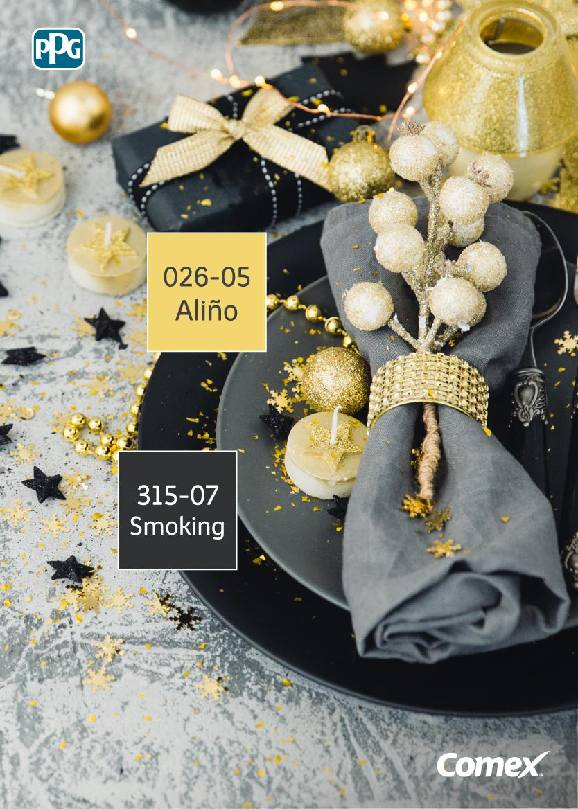 738a172f6b1e Esta combinación entre negro y dorado nos parece perfecta para una cena de  navidad o de