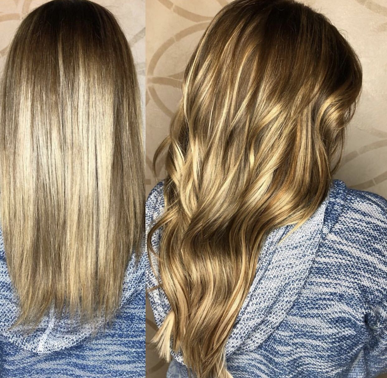 Before And After With Tape In Babe Hair Extensions Tape In Hair