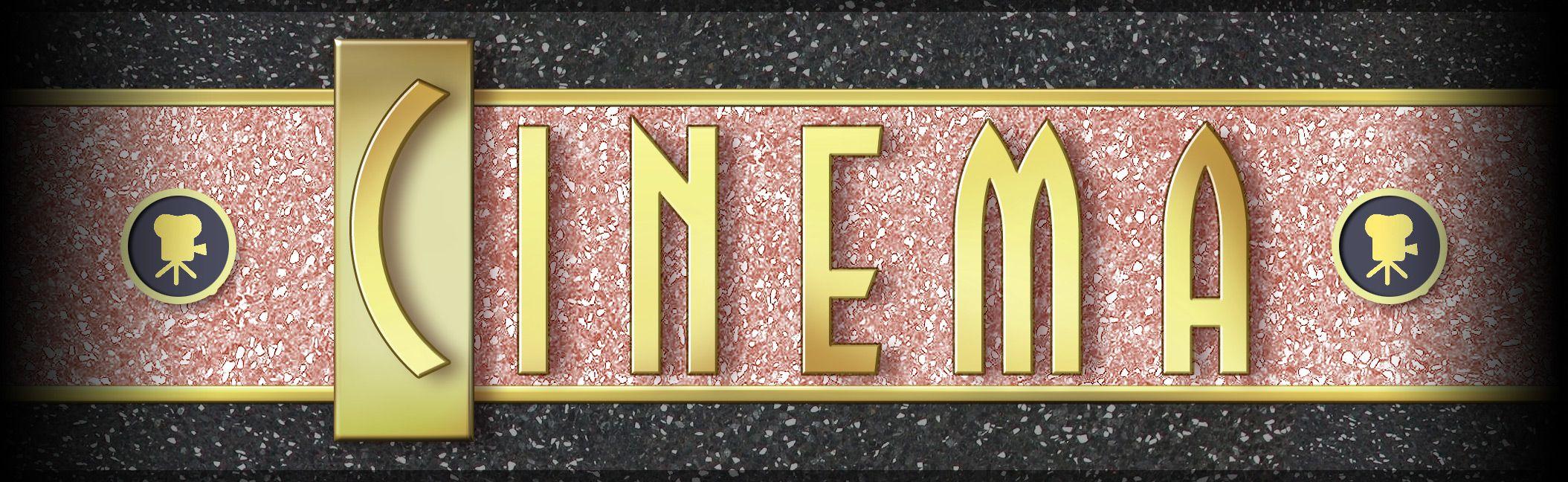 Картинка надпись кинотеатр