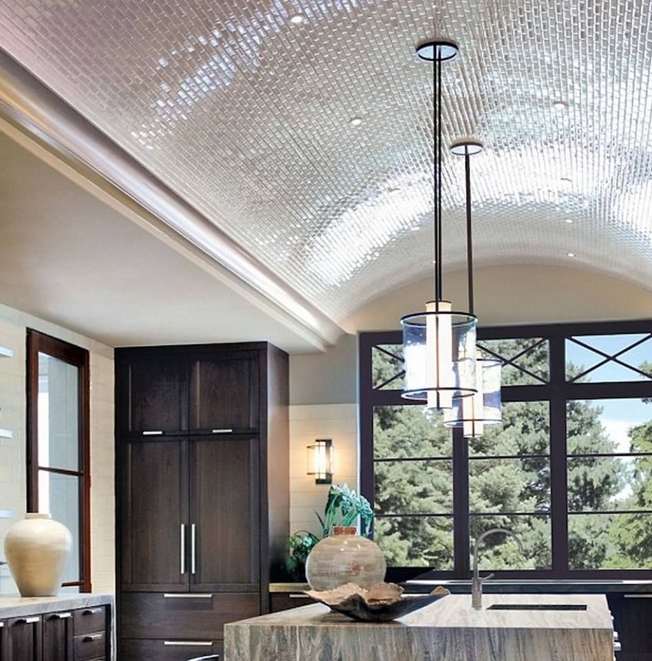 Tiled barrel ceiling in kitchen k i t c h e n ideal that ceiling though the tiny mosaic tiles on this barrel vaulted ceiling defines this space the dramatic overhead curve creates a stunning centerpiece doublecrazyfo Choice Image