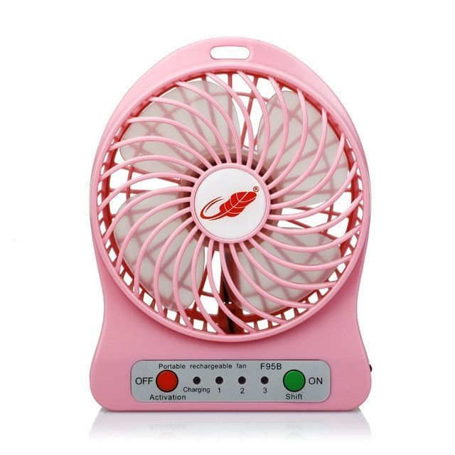 Usb Mini Portable Electric Fans Led Rechargeable Desk Fan Cool Air Conditioner Has A Battery