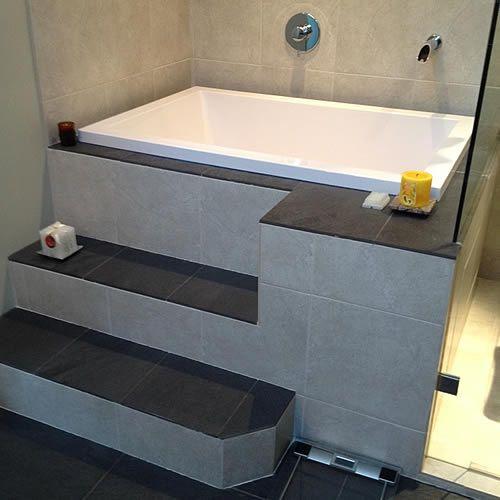Pin by shellie vernon on master bath in 2019 bathroom - Deep soaking tub for small bathroom ...
