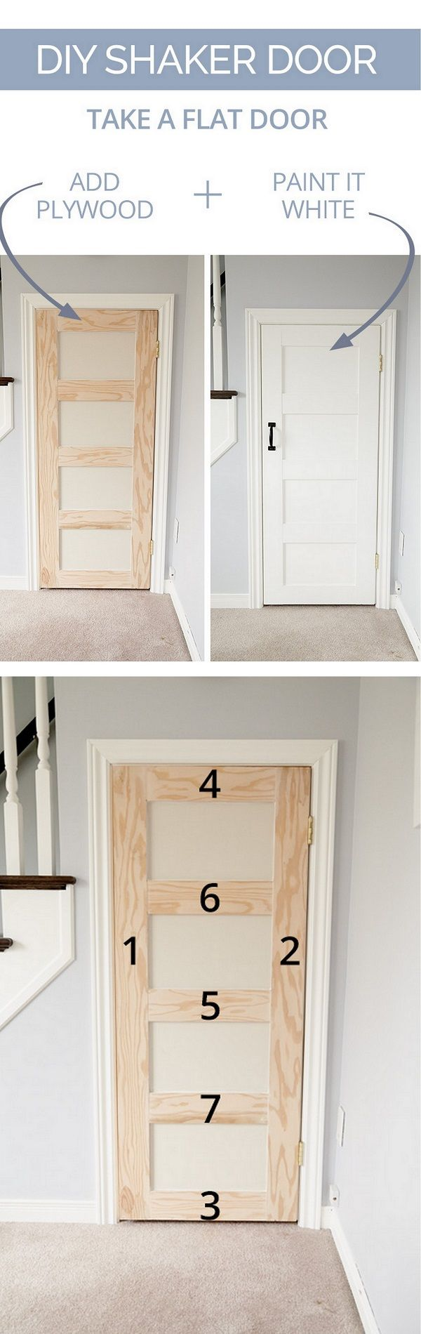 16 Easy Diy Door Projects For Amazing Decor On A Budget Home Remodeling Diy Diy Door Diy Projects On A Budget
