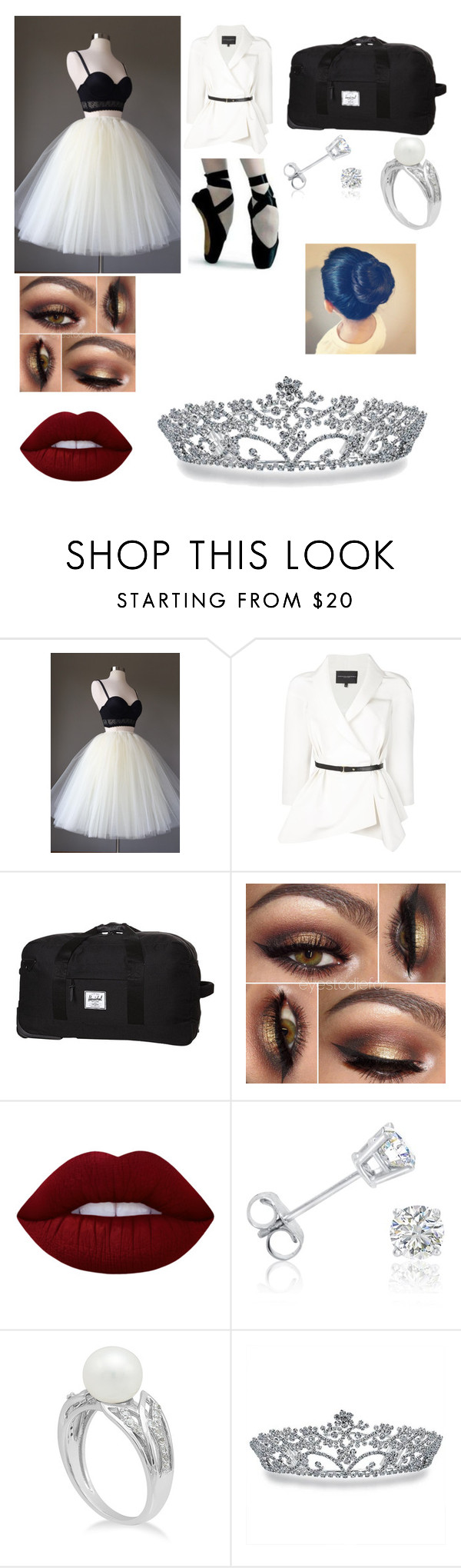 """""""The performance"""" by hoshi0810 on Polyvore featuring Carolina Herrera, Herschel Supply Co., Lime Crime, Amanda Rose Collection and Bling Jewelry"""