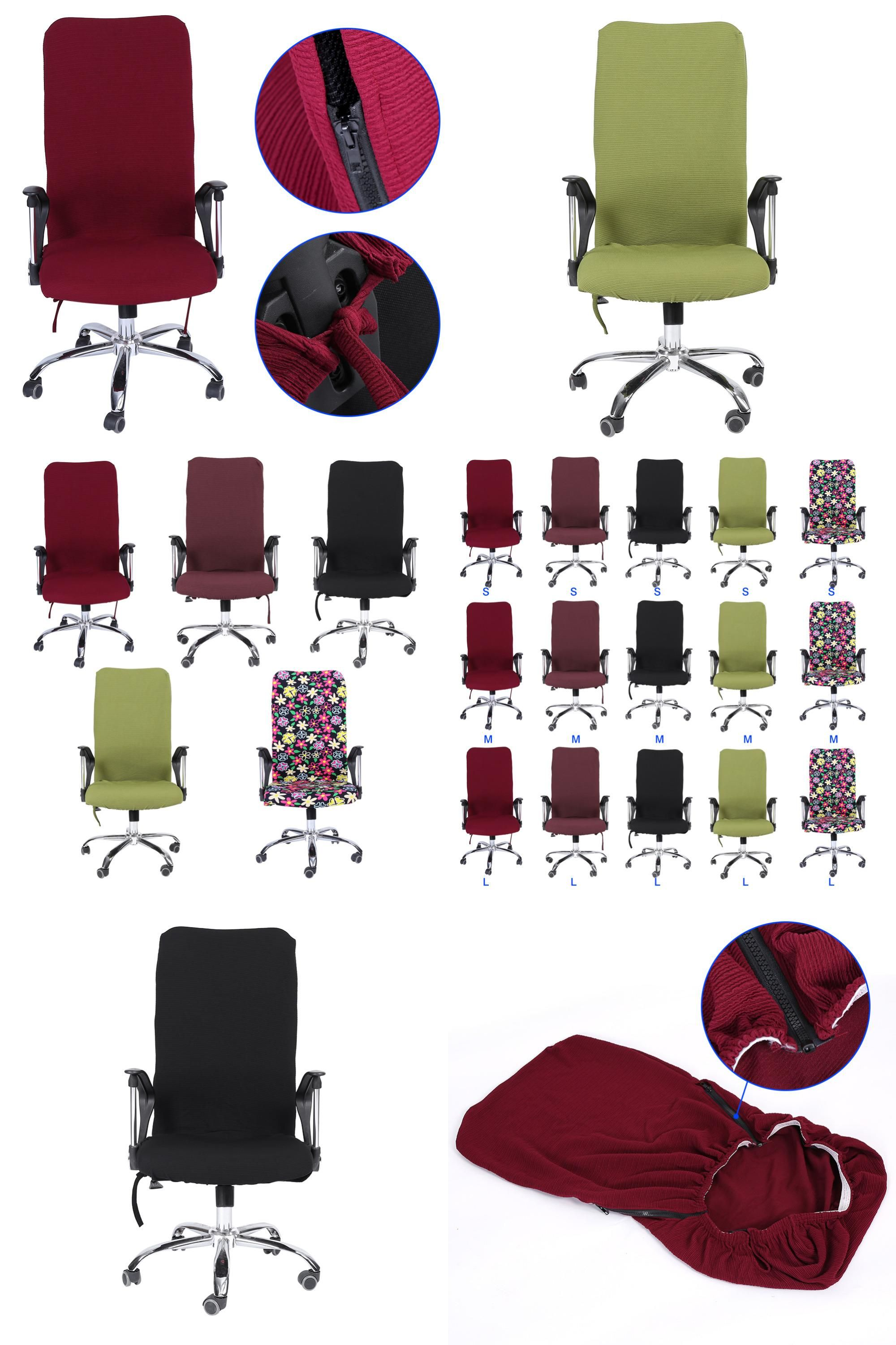 [Visit to Buy] Removable Stretch Swivel Computer Chair