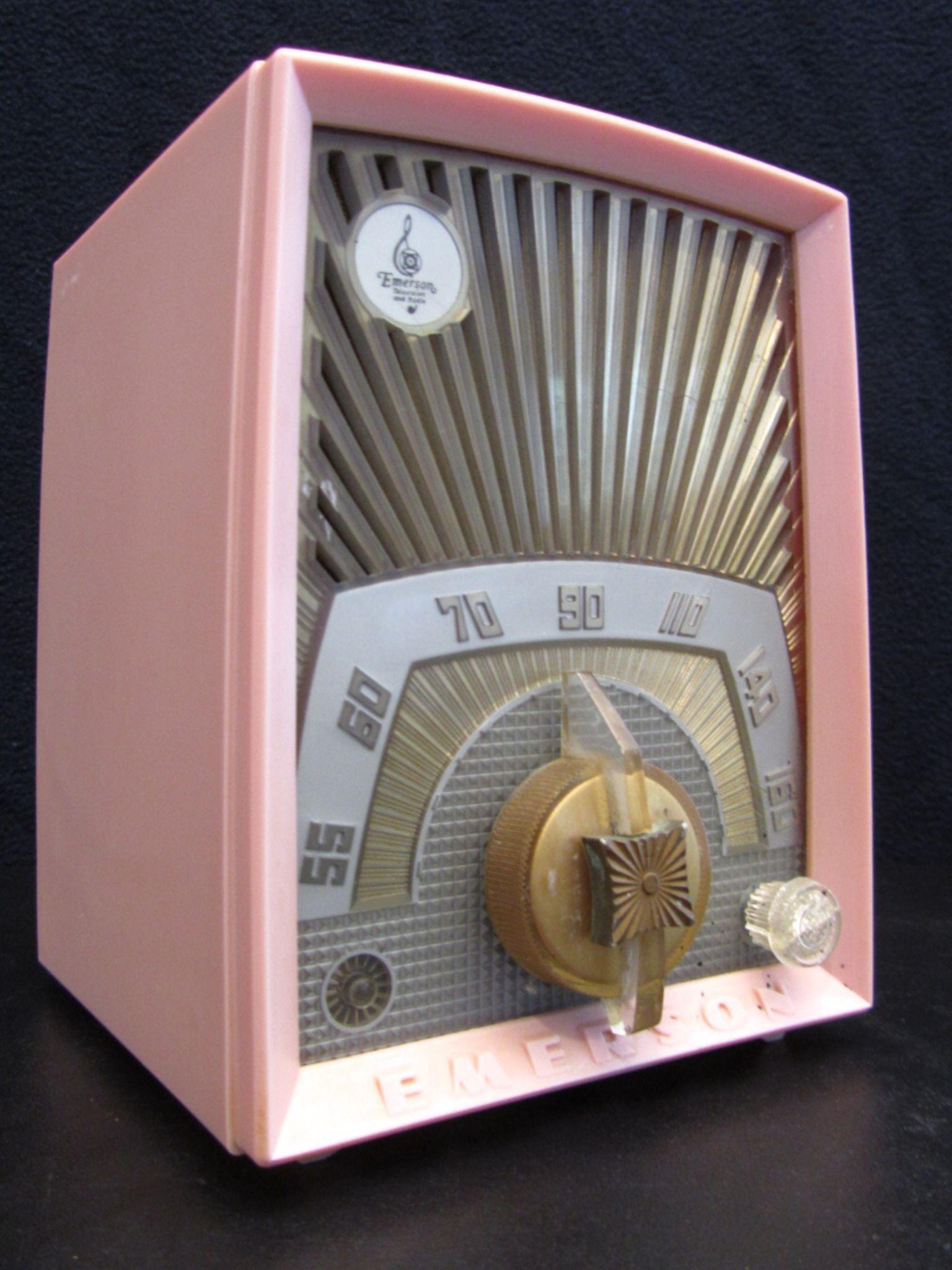 Emerson Sunburst Old Bakelite Tube Radio Vintage 1950s