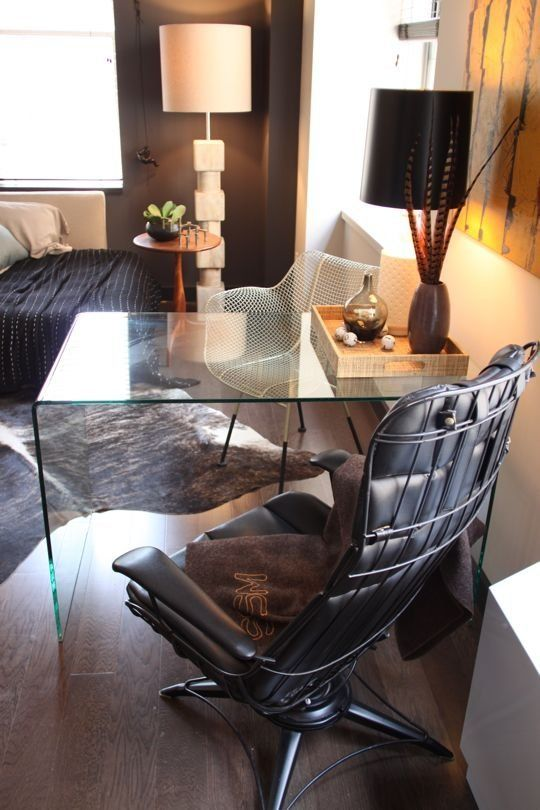 small space solutions sources for clear glass acrylic desks rh pinterest com