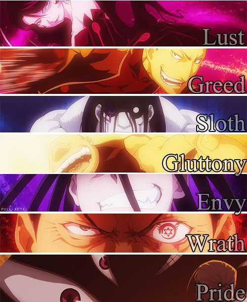 7 Deadly Sins. Admit it, we all have it in us.