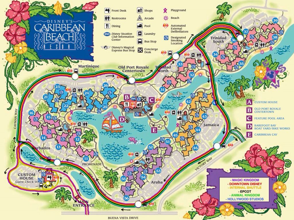 Caribbean Beach Resort Map | Caribbean Beach Resort in 2019 ...