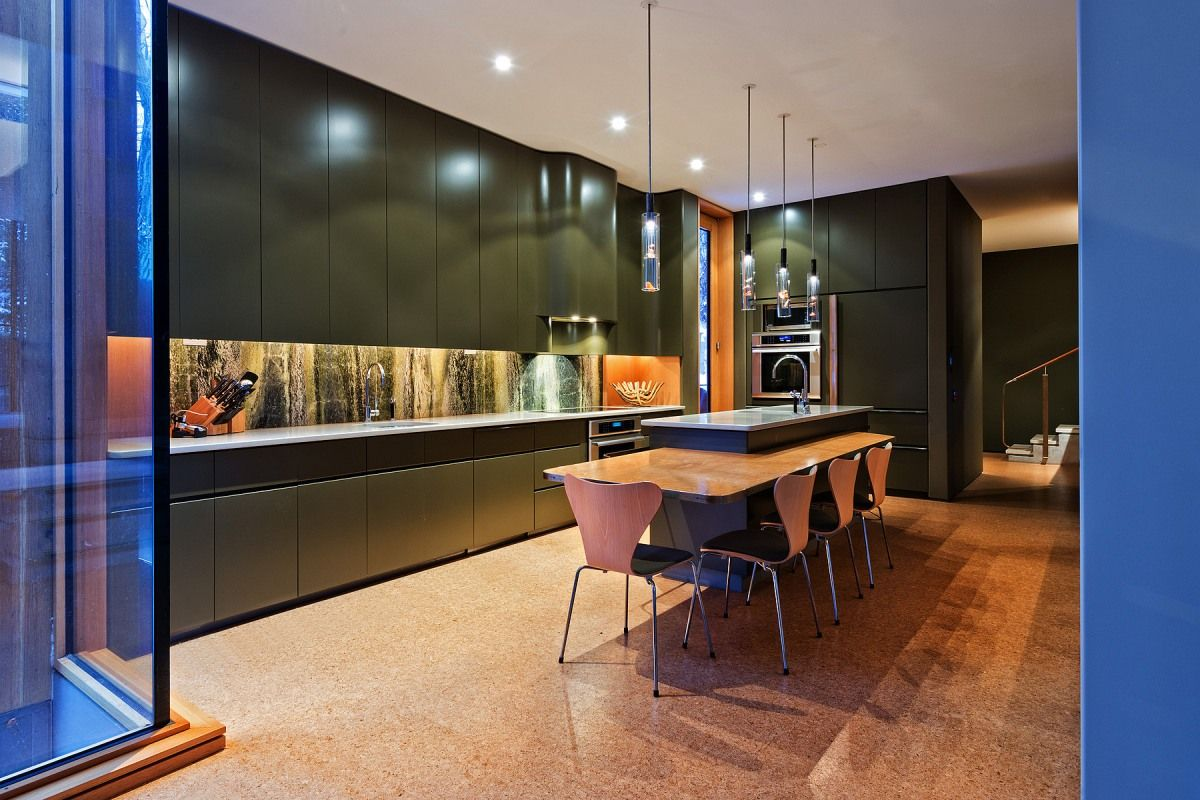 The kitchen of The Integral House manages to be both