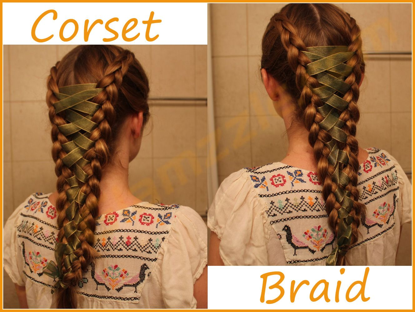 Partition Your Hair Into Two Sections Equal Sections 2 : Start French  Braiding From