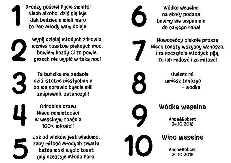 Wyjatkowe Zawieszki Na Alkohol Wesele Slub Eko 7065245609 Oficjalne Archiwum Allegro Word Search Puzzle Words Math