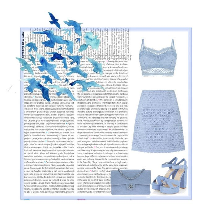 """Blue summer"" by karanova ❤ liked on Polyvore featuring Oris, Lipsy, Chanel, Summer and Blue"