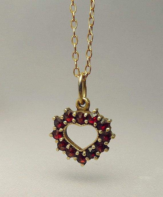 Antique bohemian garnet heart pendant necklace by jujubee1 on etsy antique bohemian garnet heart pendant necklace by jujubee1 on etsy aloadofball Gallery