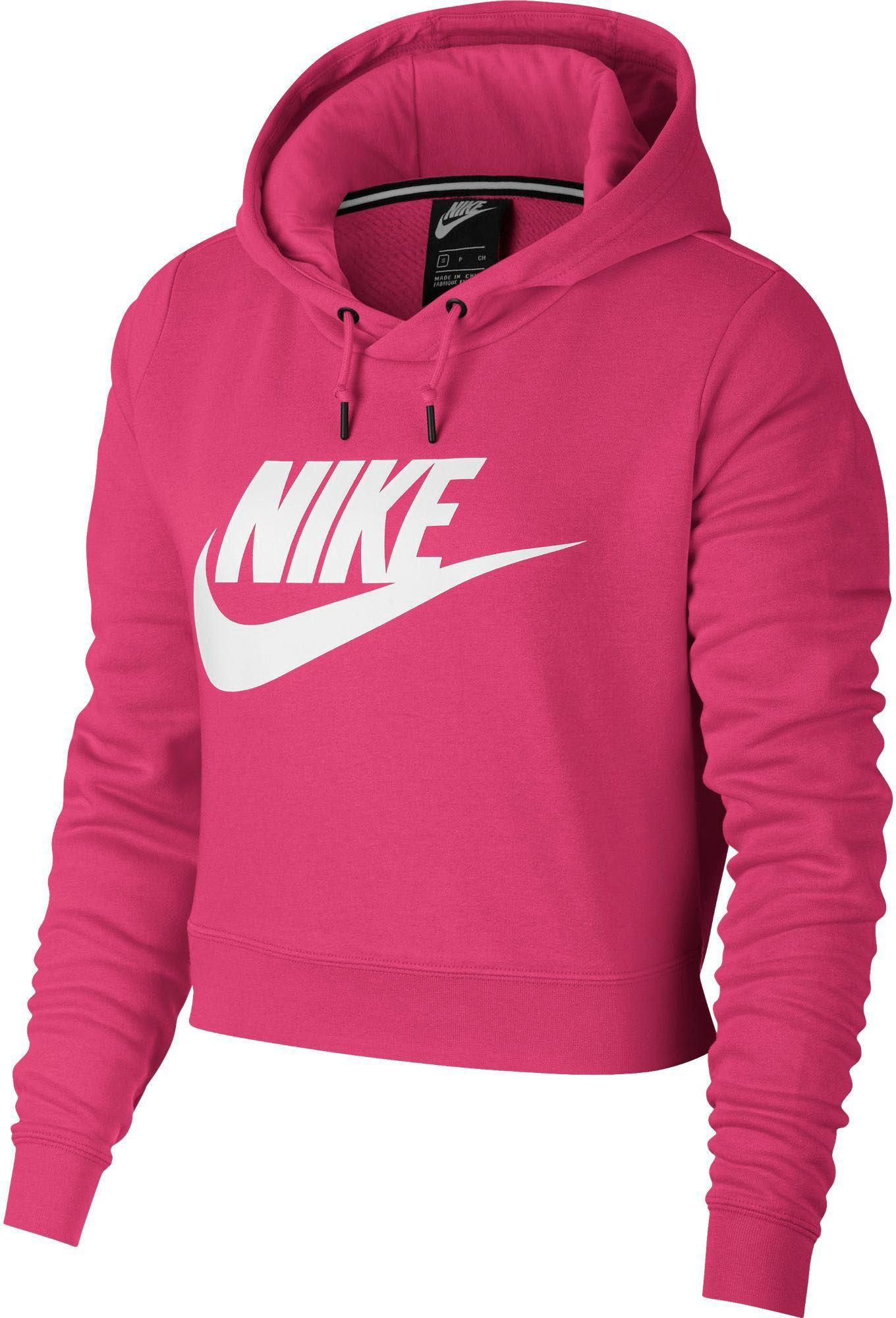 adc3ca9939388 Nike Women s Sportswear Rally Cropped Hoodie
