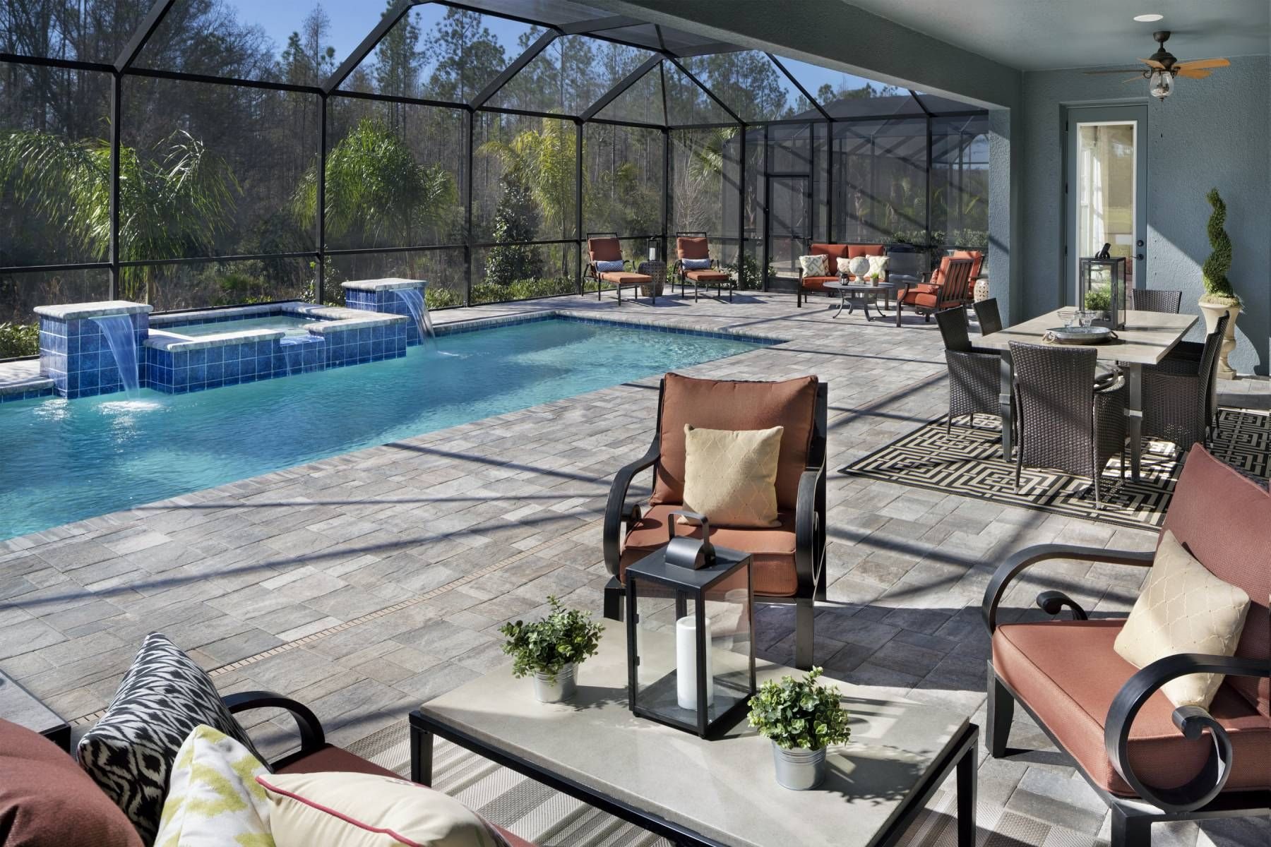 "Make a splash with the outdoor pool in ""Bayshore II"" by Homes by"