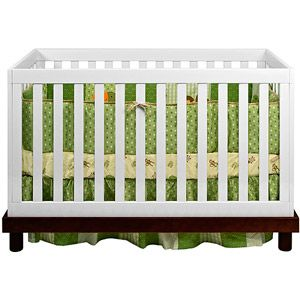 Baby Mod - Olivia 3-in-1 Fixed Side Convertible Crib, Espresso and White $299