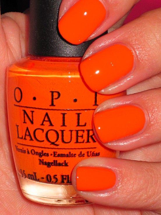 Opi Tangerine Scene Orange Nails Nail Polish Nails