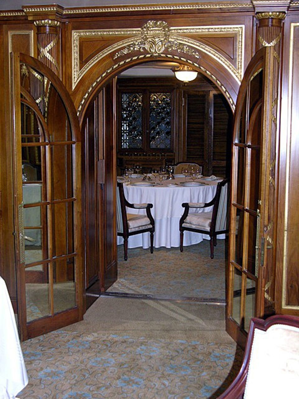 Wonderful Entrance Door Of A La Carte Restaurant In Olympicnow Located At