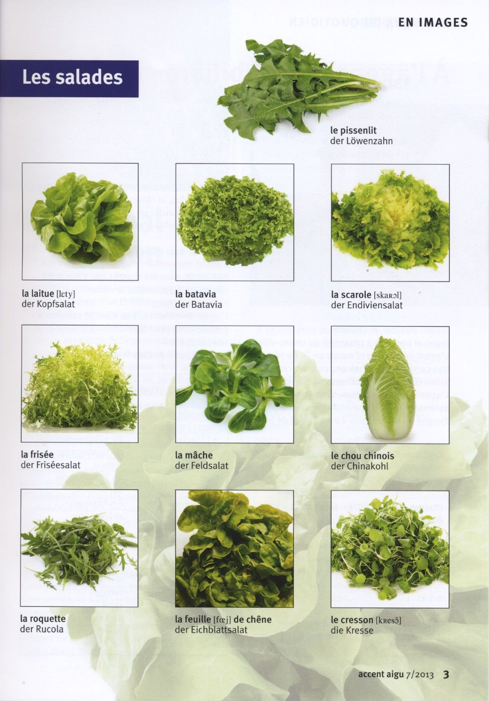 Les Salades Eten Voeding