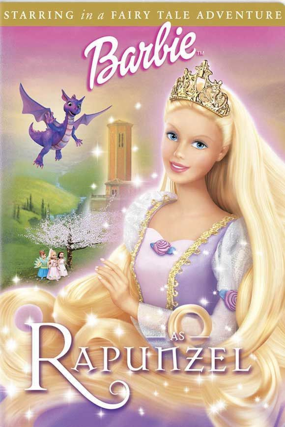 Barbie As Rapunzel 27x40 Movie Poster 2002 Com Imagens