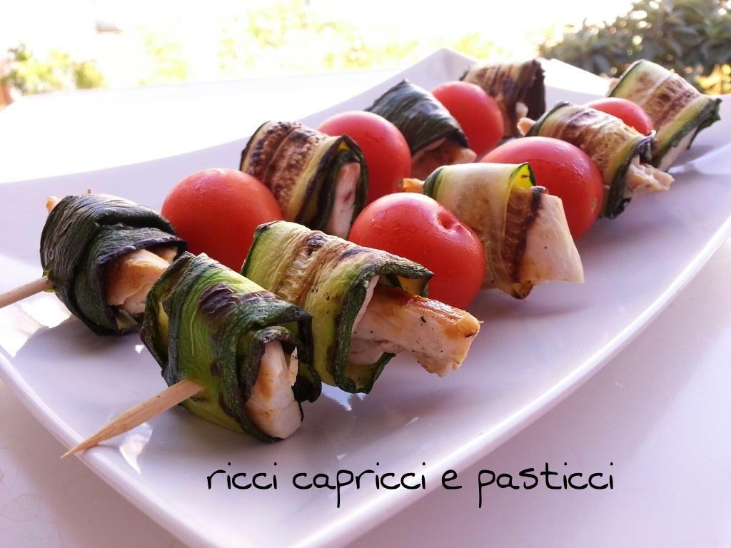 spiedini freddi ricetta secondo piatto leggero e dietetico ... - Pranzi Sani E Leggeri
