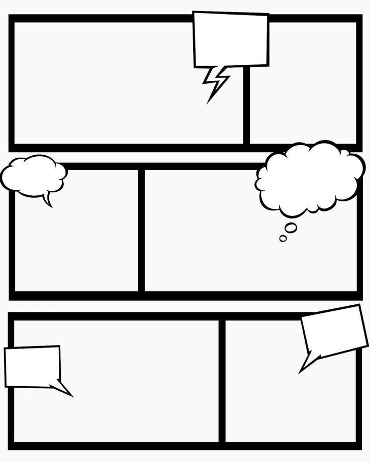 editable layout comic strip template  Comic+Strip+Template+for+Kids | Comic book template, Comic ...