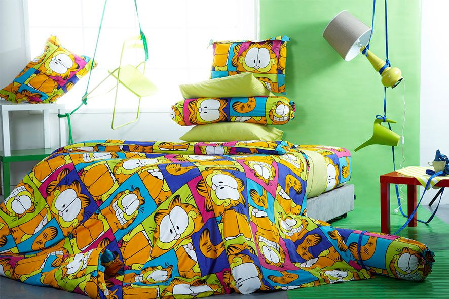 GARFIELD Bed curtains, Bed, House rooms