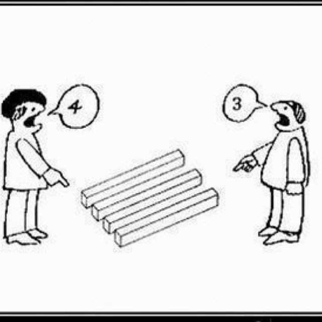 Is there 3 or 4 | It's all about perspective, Bones funny, Illusions