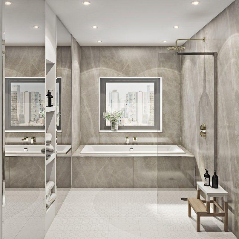Multipanel Linda Barker Soapstone Stellar Hydrolock Shower Wall Panel Shower Wall Panels Bathroom Wall Panels Bathroom Cladding