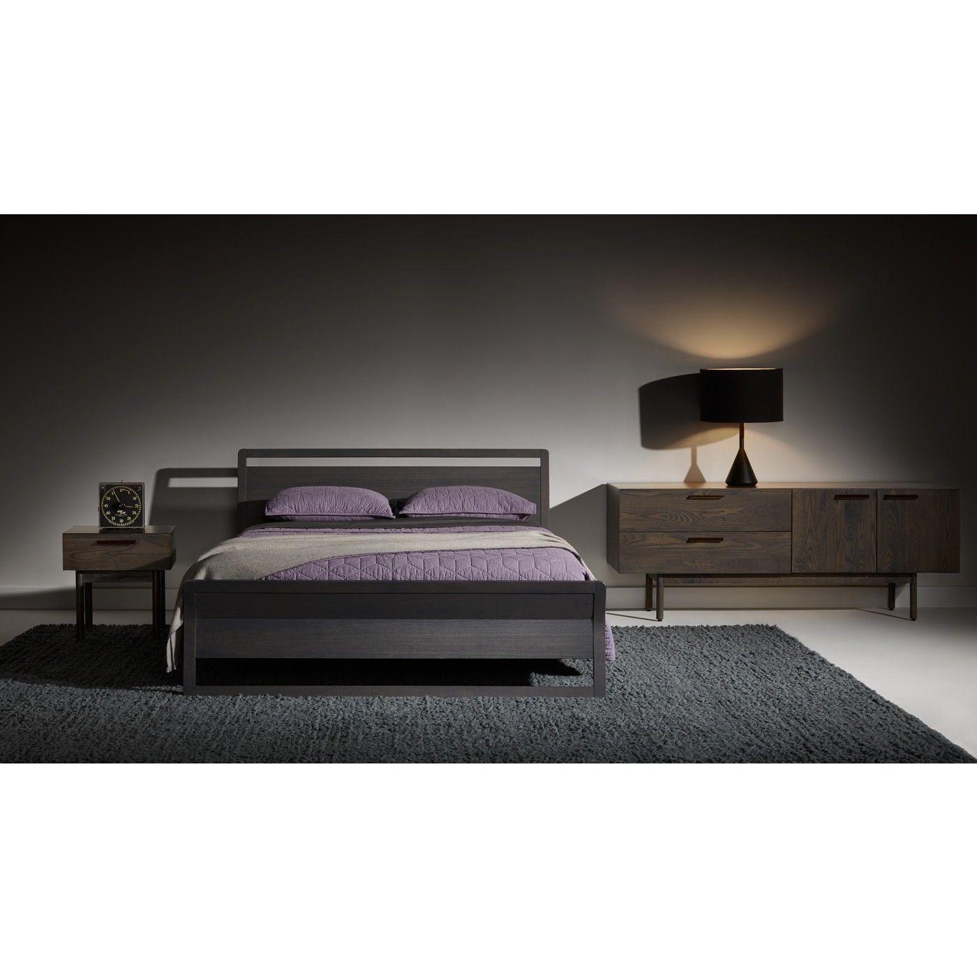 Shale 2 Drawer 2 Door Dresser Modern Wood Bed Bedroom Sets Modern Bedroom Set