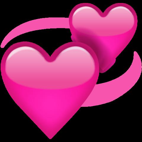 Revolving Pink Hearts Emoji Emoji de coração, Coração do