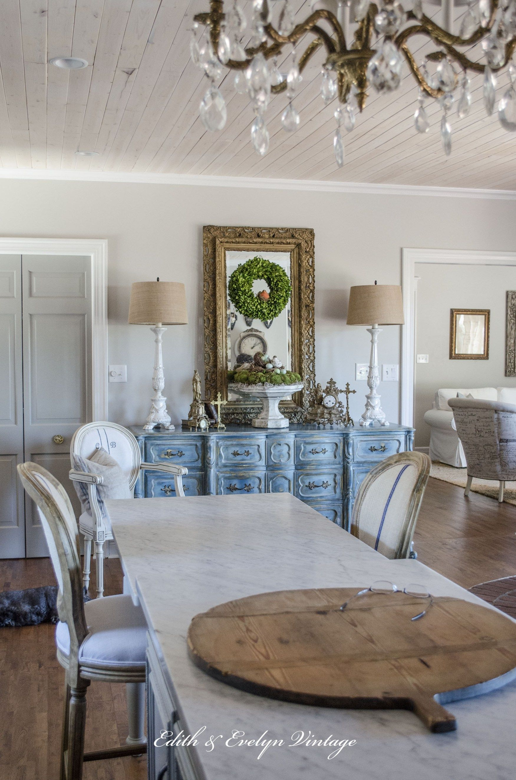 A Blue French Provincial Dresser | French provincial dresser, French ...