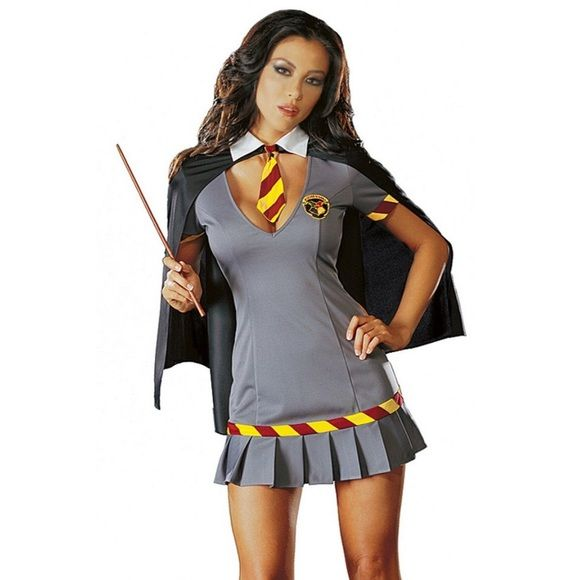 1b8690baaf5 Wizard School Girl Costume 2 piece sexy Harry Potter wizard school girl  costume. Excellent condition. Comes with dress   cape. Wand not included.